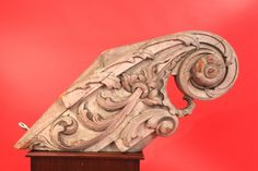 Carved Billethead with carved Acanthus Leaves Attributed to the Skillon Shop Boston - Inventory - Hyland Granby