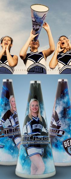 If you're looking for the best gift for a cheerleader, coach, athlete, fan or just an awesome personalized gift for a loved one, check out custom photo megaphones by Make-A-Ball. The best part about it is we don't restrict your design area like other companies! Use the code Pin10 for 10% off your order at makeball.com  #cheerleadinggiftsforteam #cheerleadinggiftsgoodluck #cheerleadinggiftsideas #personalizedphotogifts #athletegiftideas #sportsgifts