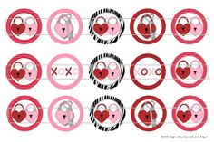 15 Heart Locket and Key 1 Digital Download for 1 by MaddieZee, $1.25