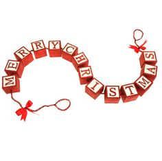 NEW Merry Christmas block garland by RAZ Imports.   Shelley B Home and Holiday