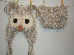 Baby Hat Crochet Owl Diaper Cover Newborn Owl by HappyCapatiller, $64.00