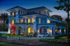 design exterior india House Front View Designs Pictures In India Haus Front View Designs Bilder In Indien 3d Home Design, House Design Photos, Modern House Design, Modern Houses, 3d Architectural Rendering, 3d Architectural Visualization, 3d Rendering, 3d Visualization, Bungalow Interiors