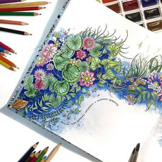 coloring inspiration The Secret Garden