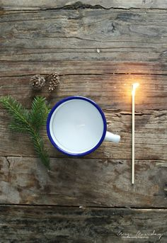 Mrs. Monday: diy: lys i kopp // candle in a cup
