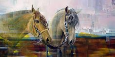 Pintura y Fotografía Artística : El caballo pinceladas de poder y realismo…