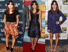 A Weekend In Jenna Coleman's Comic Con 2013. In a fluorescent-orange Topshop Aztec A-line skirt being the focal point of this look. Methinks had Solange Knowles worn this skirt, she would have worn it with the matching jacket. Jenna looked beautiful wearing a Christian Dior Pre-Fall 2013 strapless blue-and-black striped frock. Jenna ditched the black footwear and chain-accented bag for a cute navy dashboard-print long-sleeved Antipodium 'Autobahn' dress, which she styled with pink suede…