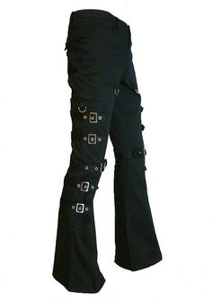 Black Gothic Punk Cargo Pants with Silver Bondage Buckles. These are totally my style Punk Outfits, Gothic Outfits, Cool Outfits, Style Emo, My Style, Dark Fashion, Gothic Fashion, Gothic Pants, Look Dark
