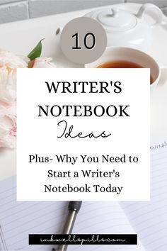 This is the ultimate guide to writer's notebooks. Learn what makes a good writer's notebook. Find out how to create your own writer's notebook. Plus get ten awesome inspirational prompts to start journaling right now. *** InkWell Spills Offers: Novel & Writing Resources || Novel Tools || Creative Writing Prompts || Bullet Journal Printables || Bullet Journals for Writers || Writing Freebies || NaNoWriMo Printables || Self Care for Writers Bullet Journal Ideas For Writers, Journal Writing Prompts, Creative Writing Prompts, Writing Advice, Writing Resources, Writing Ideas, Bullet Journals, Writing Inspiration, Writing A Book