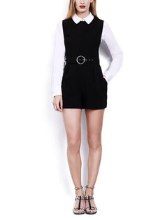 Comit Belted Romper from One-Piece Dressing on Gilt
