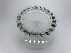 110 Crt Natural Phantom Quarts beads bracelet  NATURAL PHANTOM QUARTZ GEMSTONE BRACELET   FROM GEMROCKAUCTIONS.COM