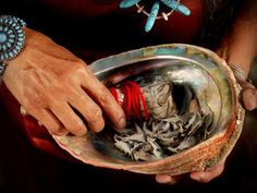 spirituality--healing--smudging for clearing energy in the home and balancing good energies--white sage for clearing and sweet grass to promote new healthy energy--Triloka