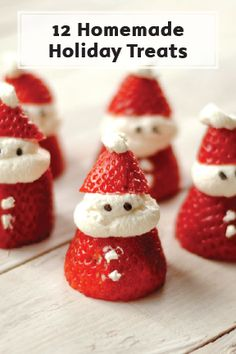 These 12 Jolly and Cute Holiday Treats are easy to make and perfect for all your upcoming holiday parties. Save a few each batch for a festive surprise in your kid's' packed lunch or a sweet late night treat because there recipes are almost too good to share.