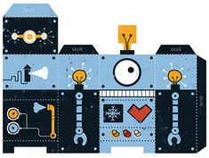Free Robot printable - Just follow this Pinner's amazing 'Printables' board - truly fantastic
