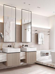 Home Room Design, Home Interior Design, House Design, Bathroom Design Inspiration, Bad Inspiration, Toilet Design, Bathroom Design Luxury, Spas, Cheap Home Decor
