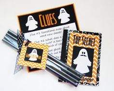Delightfully Noted: Free Printable: Kid's Ghost Detective Halloween Game