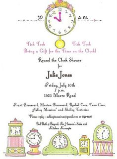 Around The Clock Wedding Shower Themed Gifts Each Guest Will Get Bride