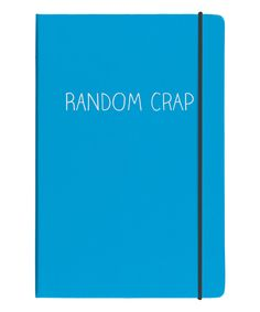 Another great find on #zulily! 'Random Crap' Journal by Happy Jackson #zulilyfinds