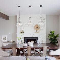 beachy dining room beadboard ceiling, linear dining room light ...