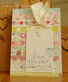 'Stitched with Love'—adorable card❣ Lucy Abrams • Flickr