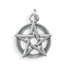 Oxidized Pentagram Charm