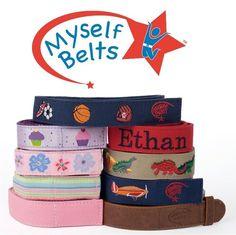 New Toddler Boys & Girls  Velcro MYSELF BELT Sizes 2T 3T 4T #MyselfBetl