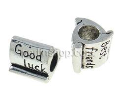 Zink Legierung Europa Perlen, Zinklegierung, Rohr, ohne troll, frei von Nickel, Blei & Kadmium, 10x9mm, Bohrung:ca. 4.5mm, 10Stücke/Pack, ve...