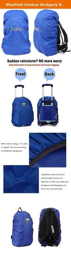 BlueField Outdoor Backpack Rain Cover Bag for Hiking Camping Water-resistant Color Blue Size S. Brand:BlueField Item:090035 Color: Optional Material: 300D oxford fabric Product size S:15L - 35L (32cm x 55cm x 15cm) M:35L - 55L (42cm x 73cm x 20cm) L:55L - 80L (45cm x 80cm x 24cm) Capacity: Suitable for 15-80L backpack Product weight: Approx. 126g / 4.44oz .