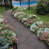 Revamp the walkway by choosing vibrant colors and our envirotile over traditional pavers. With its recycled rubber content, it's a perfect sustainable choice.