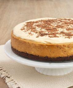Dulce de Leche Tarta de queso con corteza Brownie | Hornear o rotura
