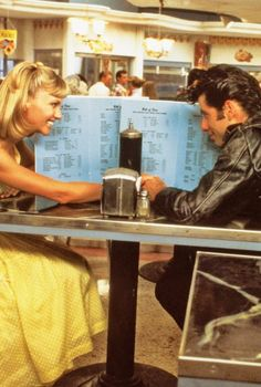 Olivia Newton-John and John Travolta // Grease