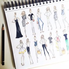 Travel wardrobe sketched, all packed, and airport bound.