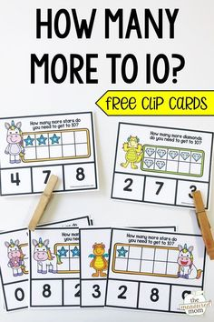 These free 10 frame activities for preschool and kindergarten are a fun to teach your learners to figure out how many to make Choose from unicorns or dragons! Kindergarten Activities, Teaching Math, Preschool Activities, Number Sense Kindergarten, Alphabet Activities, Teaching Reading, Ten Frame Activities, Number Sense Activities, Math Games