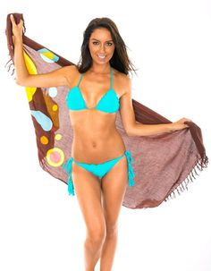 Canga Riodesol Brown by Rio de Sol. Brand: Rio de Sol Style: Pareo Size: Height / Width / Composition: Rayon, viscose (It is not standard bath towel) Origin: Made in Brazil Beachwear, Swimwear, Classic Collection, Beach Towel, Gorgeous Women, String Bikinis, Beauty, Fashion, Beach Playsuit