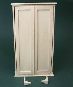 Make a Basic Doll's House Cupboard or Armoire With Opening Doors: Make Feet for a Miniature Dollhouse Scale Armoire or Cupboard