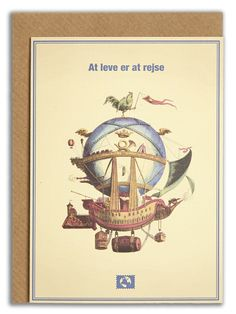 """""""At leve er at rejse"""". #messageearth #sustainable #greetingcards #sustainability #eco #design #ecodesign #vintage #cards #peculiar"""