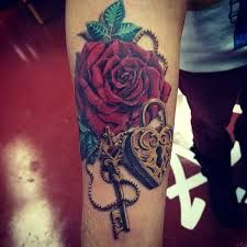lock and key tattoos with roses - Google Search