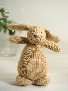 Soft bunny rabbit  knitted toy soft toy handmade newborn