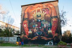 Graffiti in San Miguel, Santiago de #Chile