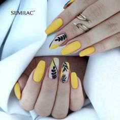 Dope Nails, My Nails, Fall Nails, Summer Nails, Nails Yellow, Yellow Nails Design, Manicure E Pedicure, Best Acrylic Nails, Nagel Gel