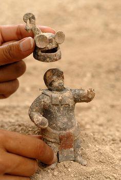 Rise and Fall of the Maya; Guatemala; Waka; El Peru; middle classic tomb; Artifact; Classic period figurines; Mayan; Ancient Cultures; Maya;...