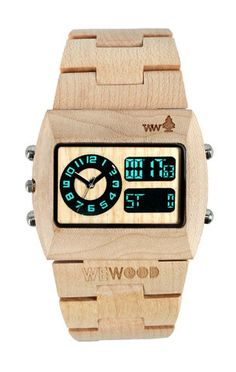 beigeCRONO large Wooden Watches by WeWOOD