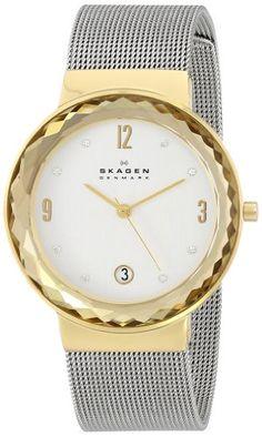Skagen Women's SKW2002 Leonora Quartz 3 Hand Date Stainless Steel Silver Watch