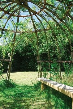 How To Build A Living Willow Playhouse #buildplayhouses