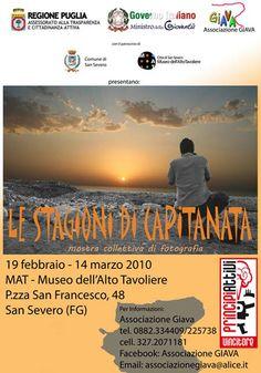 """Mostra fotografica collettiva """"Le stagioni di Capitanata"""" (19 febbraio / 14 marzo 2010) a cura di Antonello Vigliaroli"""