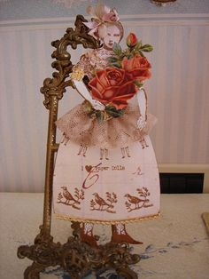 paper doll made with Catherine Moore's Character Constructions art stamps. by tempoandato, via Flickr