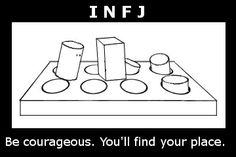 INFJ - That's why so many of us identify/connect with our MBTI results. We always felt a little weird and out of place, and then we find out it's normal & there are other people like us :)