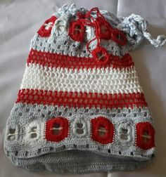 Crochet bag with can tabs - by Ashlea's Designs