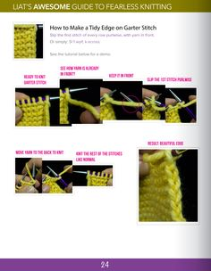 how to make a tidy edge on garter stitch