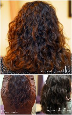 All Natural Hair Care - brushing breaks up the curl pattern and causes frizz.