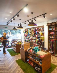 Liqui's shop design and build for Browns Natural Pet Store created an environment more like a retail experience than the usual pet shop design. Pet Shop Boys, Dog Pet Shop, Dog Grooming Shop, Pet Pet, Pet Store Display, Pet Branding, Vitrine Design, Pet Hotel, Animal Room